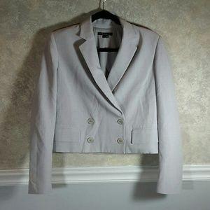 THEORY | Cropped Blazer Jacket